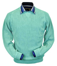 Peru Unlimited Baby Alpaca and Wool Sweatshirt Sweater - Aqua Green