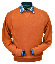 Peru Unlimited Baby Alpaca and Wool Sweatshirt Sweater - Orange