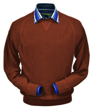 Peru Unlimited Baby Alpaca and Wool Sweatshirt Sweater - Rust