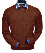 Peru Unlimited Baby Alpaca and Wool Sweatshirt Sweater - Rust Heather