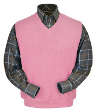 Peru Unlimited Baby Alpaca and Wool Vest - Dark Pink