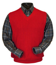 Peru Unlimited Baby Alpaca and Wool Vest - Red