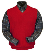 Peru Unlimited Baby Alpaca and Wool Vest - Rouge Red