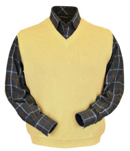 Peru Unlimited Baby Alpaca and Wool Vest - Yellow
