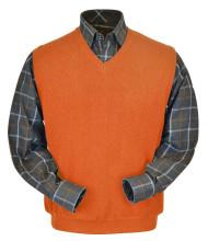 Peru Unlimited Baby Alpaca and Wool Vest - Orange
