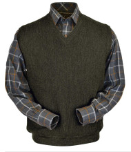 Peru Unlimited Baby Alpaca and Wool Vest - Moss Green