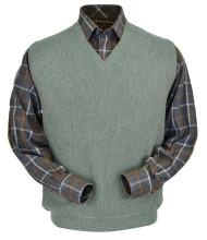 Peru Unlimited Baby Alpaca and Wool Vest - Soft Green