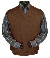 Peru Unlimited Baby Alpaca and Wool Vest - Khaki Brown