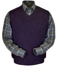 Peru Unlimited Baby Alpaca and Wool Vest - Plum