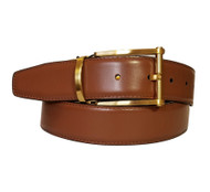 Marco Valentino 35mm Reversible Leather Belt - Gold Buckle