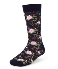 Parquet Men's Navy Floral Socks