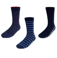 Parquet Men's Stylish Socks Blue Designs - 3 Pairs