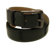 Bellissimo Genuine Leather Black Gloss Belt