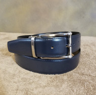 Marco Valentino 35mm Reversible Black/Navy Leather Belt