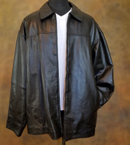 William Barry Black Lambskin Leather Coat