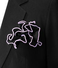 Antonio Ricci 2-in-1 Pouf Pocket Square - Lavender on Black