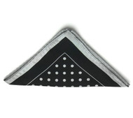 Antonio Ricci Light Grey Polka Dot on Black Pocket Square