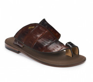 Mauri Hand-Painted Bronze Genuine Crocodile Sandal