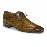 Mauri Genuine Hand Painted Mustard Tone Alligator Dress Shoe