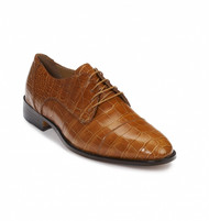 Mauri Genuine Alligator Cognac Cap Toe Dress Shoe