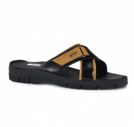 Mauri Genuine Karung Snake Black and Tan Sandal