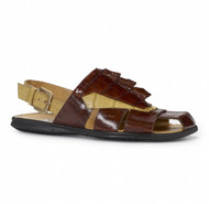 Mauri Genuine Crocodile and Hornback Sandal