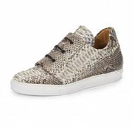 Mauri Genuine Python Sneaker - Natural