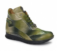 Mauri Genuine Multi-Green Crocodile  High Top Sneakers