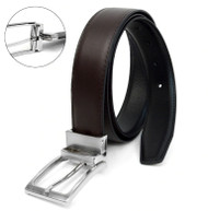 Reversible Genuine Leather Black & Brown Dress Belt