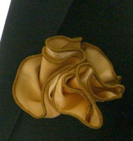 Antonio Ricci 2-in-1 Pouf Pocket Square - Gold on Tan