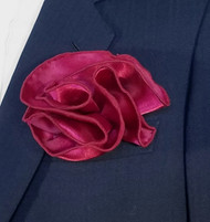 Antonio Ricci 2-in-1 Pouf Pocket Square - Burgundy