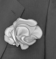 Antonio Ricci 2-in-1 Pouf Pocket Square - Grey on Grey