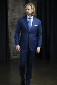 MaxDavoli Super 150's Herringbone Weave Wool Suit