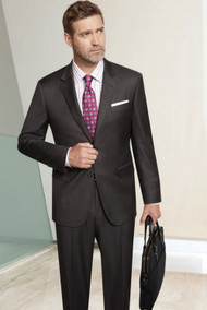 Baroni 2-Button Super 150's Solid Color Wool Suit