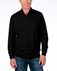 Alashan Douglas Anthony Cotton & Cashmere V-Neck Sweater -Black