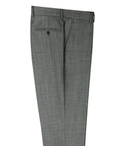 Tiglio 100% Italian Wool Modern Fit Slacks - Grey Birdseye