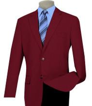 Lucci 2-Button Burgundy Blazer - Sportcoat