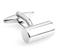 Silver Cylinder Cufflinks (V-CF-M55889S)