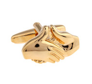 Gold Handshake Career Cufflinks (V-CF-156114)