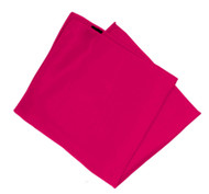 100% Silk Pocket Square - Fuchsia Pink 14 x 14in