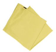 100% Silk Pocket Square - Light Yellow 10 x 10in