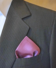 100% Silk Pocket Square - Fuchsia Pink 17 x 17in