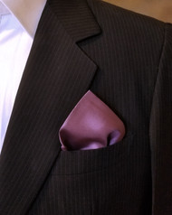 100% Silk Pocket Square - Plum 17 x 17in