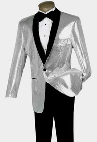 Pallini Sequin Formal Sportcoat - Silver