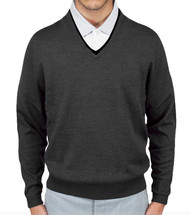 Aristo18 Zegna Baruffa Italian Wool Classic V-Neck Sweater