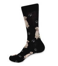 Parquet Men's Retriever Dog & Paw Print Socks
