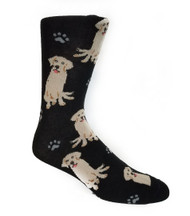 Parquet Men's Golden Retriever Dog & Paw Print Socks