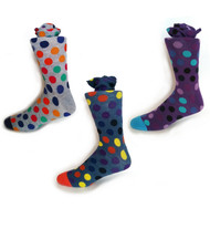 Parquet Men's Stylish Polka Dot Socks - 3 Pairs