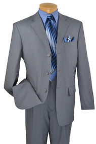 Fortini 3-Button 100% Light Blue Stripe Suit