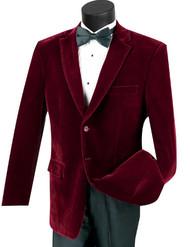 Vinci Wine Velvet Classic Sportcoat